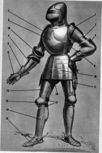 Gravado de armadura de Viollet LeDuc